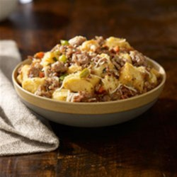 Johnsonville(R) Italian Sausage Stuffing Recipe - Italian Sausage, Parmesan cheese and black olives makes this a one-of-a-kind taste for any meal occasion.