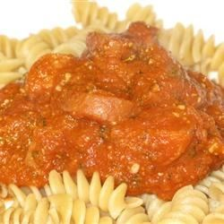 Simple Marinara with added Turkey Sausage