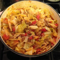 Unstuffed Cabbage Roll Recipe - Unstuffed cabbage rolls made with ground beef, cabbage, and diced tomatoes are a family-pleasing main dish perfect for weeknights.