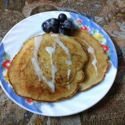Creme Brulee Pancakes Recipe - Vanilla-flavored pancakes have a tempting topping of crunchy cinnamon sugar in this breakfast recipe inspired by the flavors of a creme brulee dessert. They're so light and sweet they don't need syrup.