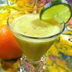 Sour Smoothie Recipe - A smoothie made with oranges, lemon, lime, and kiwi with a hint of honey is just the right amount of sweet and sour.