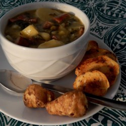 Sunchoke and Sausage Soup