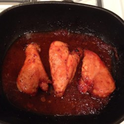 Easy To Do Oven BBQ Chicken Recipe - Catsup, honey, vinegar and garlic combine in a very simple barbecue sauce that serves as both marinade and basting liquid for chicken.