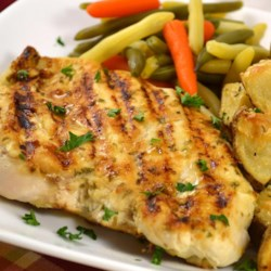 Grilled Tarragon Mustard Chicken Recipe - If you're looking to grill some chicken but are tired of the traditional grilling sauces, try this. It's flavorful and doesn't require time to marinate.