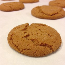 Crispy Gingersnaps Recipe - This simple recipe helps deliver thin, spicy gingersnap cookies you'll be happy to serve at the holiday cookie exchange.