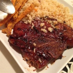 Asian Marinated Pork Chops Recipe - It's so easy to whip up this quick Asian-inspired marinade for grilled pork chops, and add rich savory flavors to a quick dinner.