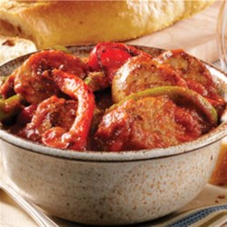 Ragu Sausage and Peppers Recipe - Sweet Italian sausage, sliced bell peppers, and Ragu(R) Old World Style(R) Traditional Sauce makes a great sandwich too . . . so plan ahead and make extra!