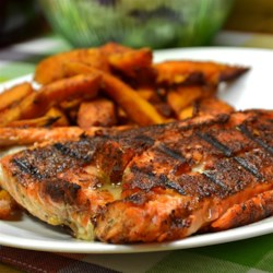 Blackened Salmon Fillets Recipe - Fire up succulent salmon with an exciting blend of Cajun-style spices!
