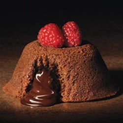 Ghirardelli(R) Individual Chocolate Lava Cakes Recipe - Break into these individual chocolate cakes to find a lusciously melted soft chocolate center inside.