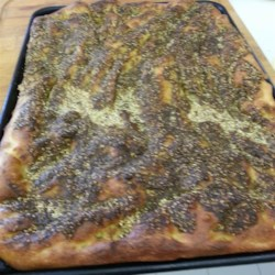 Lebanese Zaatar (Za'atar) Bread Recipe - Traditional Lebanese bread with a healthy dose of za'atar is a crisp, flaky cracker to be served alongside main and side dishes.