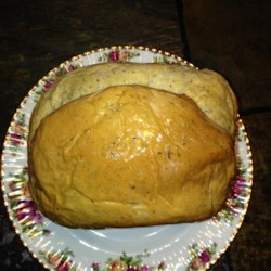 Super Easy Rosemary Bread Machine Bread Recipe - A light and fluffy herb bread is easy to make in the machine, and uses no eggs, milk, or butter.
