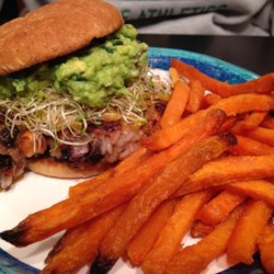 Mexicana Veggie Burgers Recipe - These Mexican-inspired veggie burgers are nicely spiced with Cajun seasoning and red pepper flakes. Serve on sourdough bread with sharp cheddar, guacamole, and salsa.