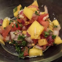 DSF's Fresh Mango Salsa Recipe - This is a very quick and easy mango salsa recipe that tastes great on tacos, fajitas, or just as another dip for chips.