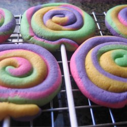 Play Dough Cookies Recipe - Swirls of color, similar looking to Play Doh.
