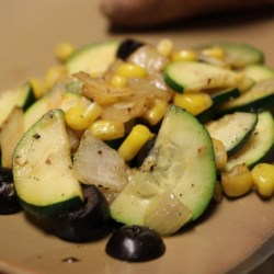 Jon's Corn and Zucchini Recipe - Corn and zucchini come together to create a quick and easy side dish with a bit of Cajun flair.