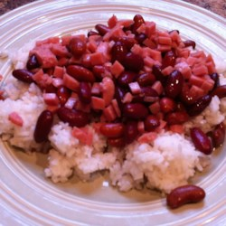 Red Beans and Rice with SPAM(R) Recipe - This is a recipe that my mom made for us while growing up.  We live in Minnesota, where SPAM originated, and my father is Puerto Rican; this was an ingenious way for my mother to weave the cultures together.  This is a quick and tasty meal, enjoy!
