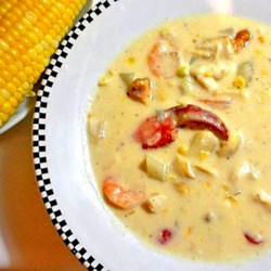 Danielle's Seafood Chowder Recipe - A delicious seafood chowder from the Canadian Maritimes combines lobster, shrimp, clams, and haddock in a rich, creamy base.