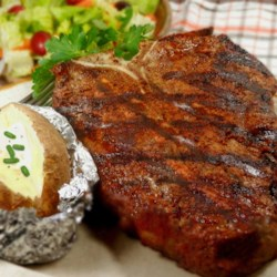Rock's T-Bone Steaks Recipe - Rocky's blend of seasonings including paprika, coriander, and turmeric makes any steak awesome!