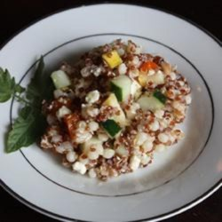 Quinoa, Couscous, and Farro Salad with Summer Vegetables Recipe