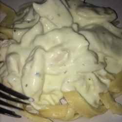 Healthier Quick and Easy Alfredo Sauce Recipe - Still rich and creamy, this alfredo recipe has been made healthier by using fat-free cream cheese.