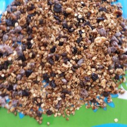 Joyce's Granola Recipe - This granola recipe is fortified with wheat germ and flax seed, while being sweetened with agave and sugar-free pancake syrups.