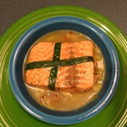 Valentine's Salmon Recipe - This really produces a fantastic piece of salmon, and when paired with a simple potato and leek chowder, would make a terrific Valentine's dinner idea.