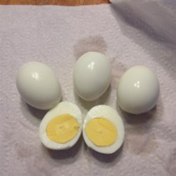 How to Make Perfect Hard Boiled Eggs   Recipe - This method makes the most perfect hard-boiled eggs ever. The whites are firm but not rubbery, and the yolks are cooked and still creamy.