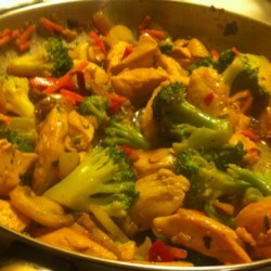 Sweet and Spicy Stir Fry with Chicken and Broccoli Photos - Allrecipes ...