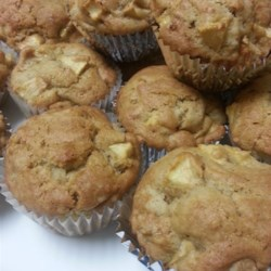 Hunnybunch's Special Apple Muffins Recipe - These special apple muffins are perfectly moist and have an added crunch thanks to a sprinkling of walnuts in the batter.