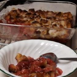 Scalloped Rhubarb