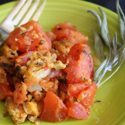 Unstuffed Tomatoes Recipe - This recipe delivers a great side dish that evokes an inside-out stuffed tomato.