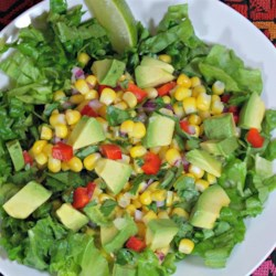 Avocado and Corn Salsa Recipe - This is a super easy and very fresh summer salsa using avocado, corn, red pepper, shallots, cilantro, and lime juice.