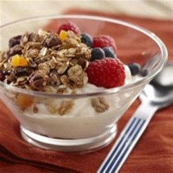 Cinnamon Vanilla Granola Recipe - Delicious as a snack, sprinkled over fresh fruit or yogurt. Or use as an easy topping for a fruit crisp.