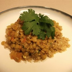Coconut-Curry Lentil Stew Served over Quinoa Photos - Allrecipes.com