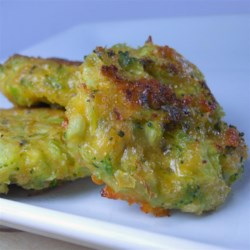Broccoli and Cheddar Nuggets Recipe - These homemade bite-size pieces of broccoli and Cheddar cheese are a fun alternative to chicken nuggets.
