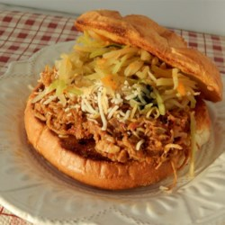 Spicy Pulled Pork Recipe - A spicy blend of hot sauce, chili powder, paprika, adobo seasoning, and cayenne pepper gives this slow cooker pulled pork a delicious kick.