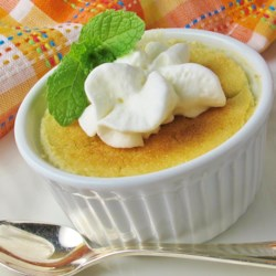 Lemon Dainty Recipe - This lemon custard dessert is light and dainty and will quickly become a family favorite. Bake in a 1-quart dish or individual ramekins.