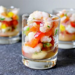 City Ceviche Recipe - Sea scallops and shrimp are quickly poached and then finished in fresh lime juice in this San Francisco ceviche recipe. Serve with sturdy tortilla chips for dipping and cold beer to drink.