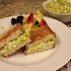Delicious Avocado Egg Salad Recipe - Creamy avocado replaces the mayonnaise in this quick and easy egg salad.