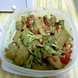 Garlic Pepper Seitan Recipe - I just love seitan and there's only two other recipes for it on this site!! I thought I better add one of my recipes for others like me who love seitan and can't find any recipes for it. I use a lot of garlic, but it's not overwhelming at all. It had a very Asian smell and flavor to it which was not my initial intention, but it works great with noodles, stir fry's, over rice or with a side of mashed potatoes and green beans. Enjoy!