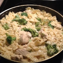 Katie's Chicken and Broccoli Pasta Recipe - Cubed chicken breast, asparagus, and broccoli combine with penne pasta in this delicious pasta creation.