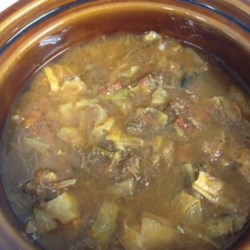 Sweet and Sour Cabbage Soup Recipe - A rich, long-simmered homemade beef stock is the base of this cabbage soup. It's an Ashkenazi Jewish recipe that is flavored with sweet paprika and fresh dill.