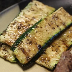 Balsamic Grilled Zucchini Recipe - Here's a simple, easy recipe for grilled zucchini with a touch of balsamic vinegar and spices.