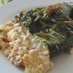Poblano Poppers Recipe - Poblano peppers are stuffed with a creamy mushroom filling in this recipe for poblano peppers, which are sure to be a hit at your next gathering.