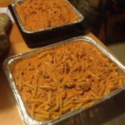 Amber's Penne Alla Vodka Recipe - Penne pasta is tossed in a homemade tomato-based vodka sauce for a warm and comforting Italian-inspired meal.