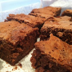 Double Batch Caramel Brownies Recipe - Absolutely sinful home-made brownies. It's a double batch because they disappear twice as fast!