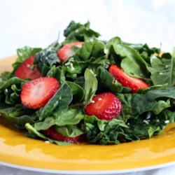Spinch and Strawberry Salad