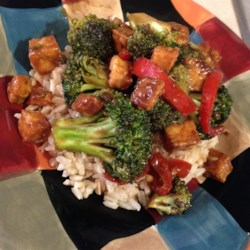 Broccoli and Tofu Stir Fry Recipe - This quick and easy stir fry is great served over white rice.