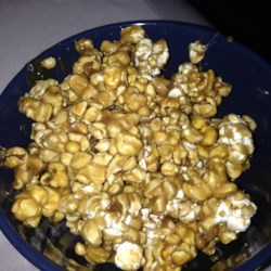 Caramel Popcorn with Marshmallow Recipe - Marshmallows make this caramel popcorn stay soft and grand!