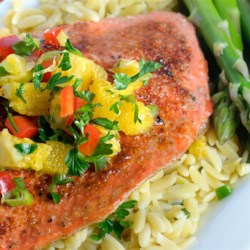 Sweet and Spicy Salmon with Grapefruit Salsa